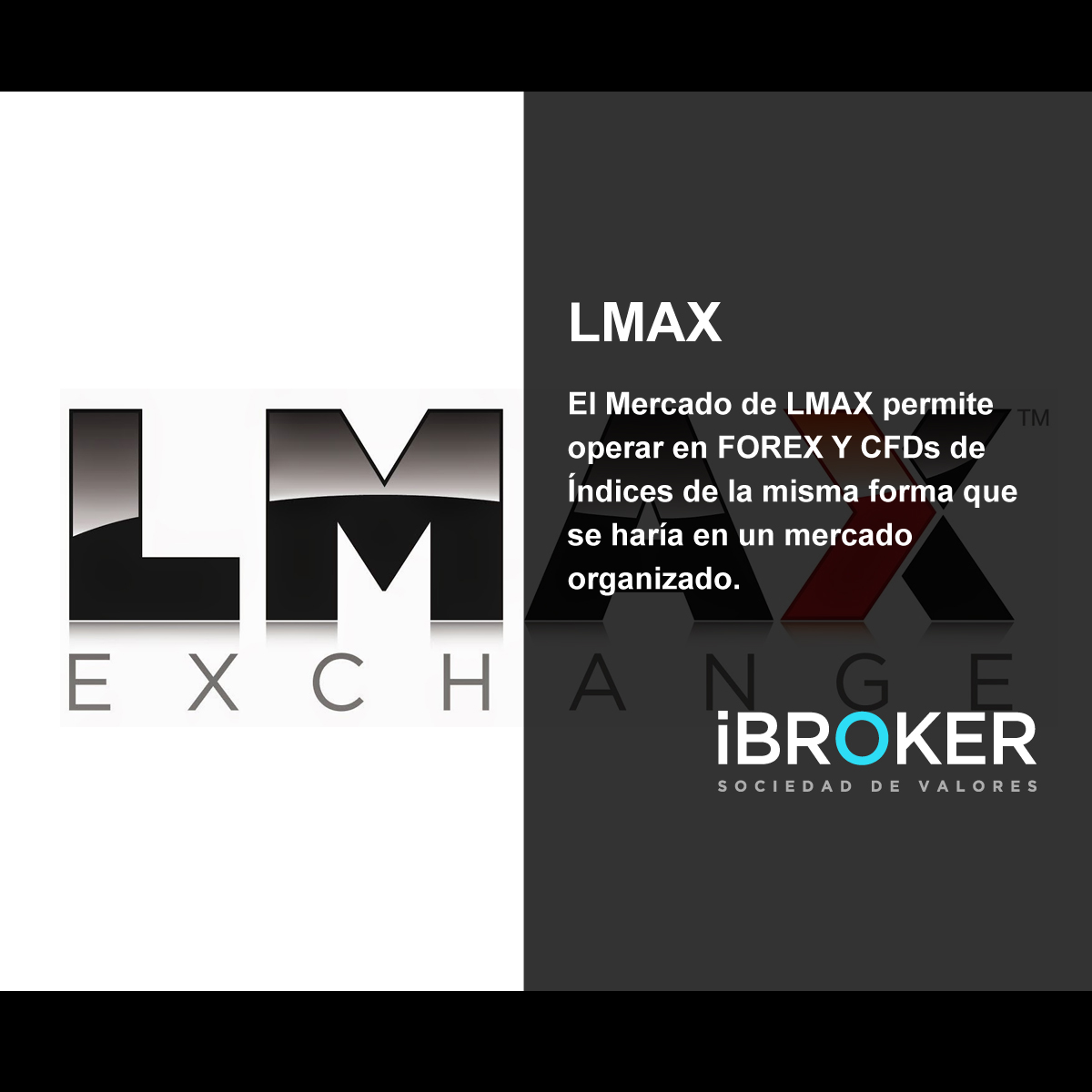 LMAX is a Forex Broker offering Forex Trading services via MetaTrader 4, MetaTrader 5, MT4 and MT5 Mobile trading platforms. Regarding orders execution model, LMAX is a MTF (Multilateral Trading Facility) exchange for forex trading. LMAX offers trading of currencies, indices, and commodities. LMAX is regulated by the FCA (UK).